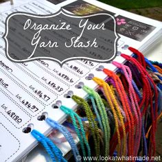 Organize Your Yarn Stash - Look At What I Made ✿╮Teresa Restegui http://www.pinterest.com/teretegui/✿╮
