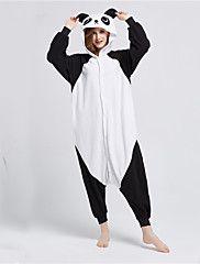 2a8fc00ce7b159 Pijama+Kigurumi+Panda+Pijama+Macacão+Pijamas+Ocasiões+Especiais+Lã+ ...