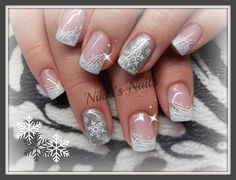 Silverflakes by nikkisnails - Nail Art Gallery nailartgallery.nailsmag.com by Nails Magazine www.nailsmag.com #nailart