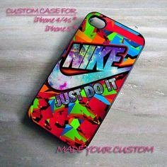 Colorful Nike Just Do It Galaxy Nebula, iPhone 4 Case, iPhone 4s Case, iPhone 5 Case, Samsung Galaxy S3 i9300, Samsung Galaxy S4 i9500