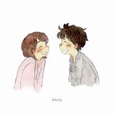 Good morning, Did you sleep well last night? Cartoon Kunst, Anime Kunst, Cartoon Drawings, Cartoon Art, Anime Art, Cute Couple Comics, Cute Couple Cartoon, Cute Couple Art, Cute Couple Drawings