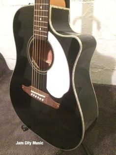 edcb7a1962c Fender Sonoran SCE Black with white pick guard FISHMAN ELECTRONICS. Fender  Acoustic Electric GuitarLove ...