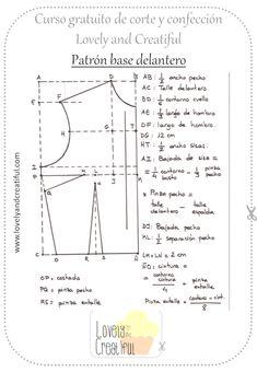 Esquema patrón base delantero Sewing Patterns