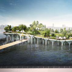 "Thomas Heatherwick to build $130 million ""treasure island"" on New York's Hudson River Link:http://www.dezeen.com/2014/11/17/thomas-heatherwick-130-million-treasure-island-hudson-river-new-york-pier-55/"