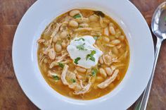 The Art of Comfort Baking: White Chicken Chili - can be done on stove top