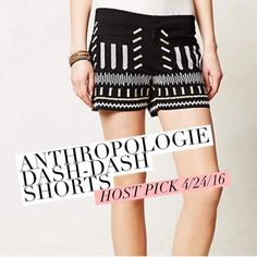 """✨HP✨ anthropologie """"dash-dash"""" shorts ✨host pick 4/24/26!!✨ adorable black shorts. brand is Chloe Oliver, purchase from anthro. in great condition, they are just too small for me! the embroidery is absolutely beautiful. they are cotton, have a hook and eye closure, and a 3.5""""' inseam. I'm open to offers  Anthropologie Shorts"""