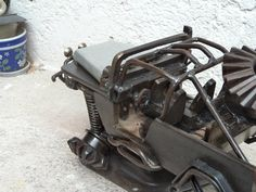 Werejo Trims Jeep CJ7 Scrap Metal Sculpture