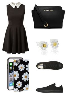 """""""Untitled #66"""" by moonlightpanda1 ❤ liked on Polyvore featuring Converse, Daisy Jewellery, MICHAEL Michael Kors and Sonix"""