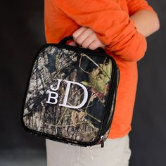 Woods Monogrammed Lunch Box ~ Kids Monogram Lunch Box ~Monogrammed Lunch Tote ~ Personalized Lunch Box ~ Embroidered Lunch Tote