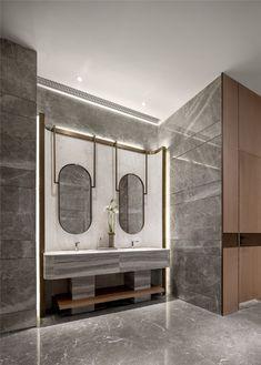 Bathroom decor for your bathroom remodel. Discover bathroom organization, bathroom decor ideas, bathroom tile ideas, bathroom paint colors, and more. Mansion Bathrooms, Public Bathrooms, Dream Bathrooms, Luxury Bathrooms, Restroom Design, Bathroom Interior Design, Interior Exterior, Bathroom Layout, Modern Bathroom