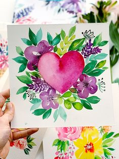 """Today I want to tell you about the wonderful book """"Flower Watercolor"""" by TUVA Publishing autor Christine Stapff. This book is about watercolor flowers and floral design… Watercolor Books, Watercolor Cards, Watercolor Illustration, Watercolor Flowers, Watercolor Pencil Art, Watercolor Ideas, Watercolor Background, Watercolor Tattoo, Art Floral"""