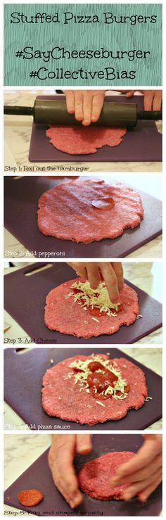Stuffed Pizza Burgers #SayCheeseburger #CollectiveBias #shop