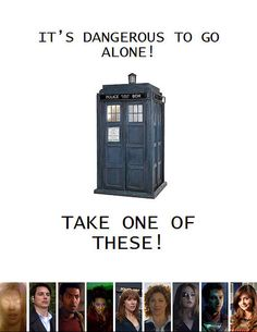 Take one of these! I'd pick Donna. Or Rory. Or River. Or Jack. Or all of the above. That works, too :)