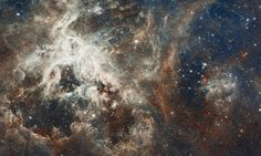 I want to share this, it is a star formation in the tarantula nebula, it is one of the larges mosaics compiled by the images taken by the Hubble space telescope. This photos was released to celebrate the anniversary of the Hubble launch. Star Formation, Hubble Photos, Hubble Images, Hubble Pictures, Cosmos, Space Photos, Space Images, Carina Nebula, Hubble Space Telescope