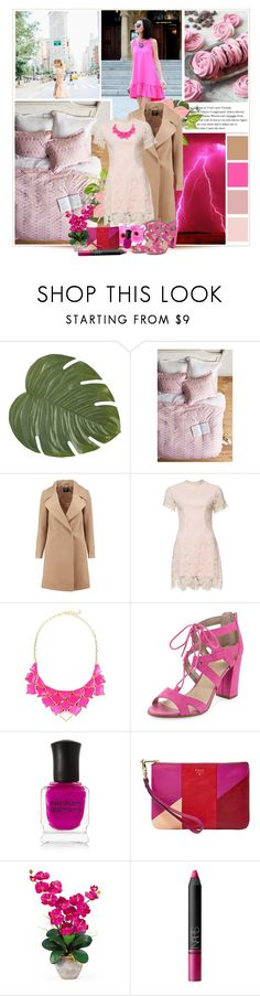 """Girly Pink"" by aura-angel ❤ liked on Polyvore featuring Pier 1 Imports, Bunglo, Boohoo, George J. Love, Circus by Sam Edelman, Deborah Lippmann, FOSSIL and NARS Cosmetics"