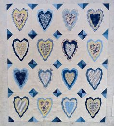 Sweet Treasures My Love  Frayed Edge Heart Quilt Harlan Valley Quilters