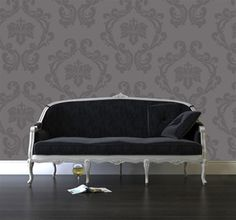 Damask Too! wall decals stickers & Sheets Baroque Wall Decal | Condo Save | Pinterest | Wall decals ...