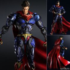 42.89$  Buy here - http://aip3f.worlditems.win/all/product.php?id=32685264989 - Superman Action Figure Play Arts Kai Movable Justice League PVC Toys 270mm Anime Movie Model Superman Playarts Kai GS0119