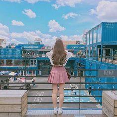 Blue sky's ☁️ . . . #korean #kpop #koreangirl #kbeauty #kstyle #koreanstyle #girl #tumblr #seoul #aesthetic #eclectic #aesthetics #kfashion…
