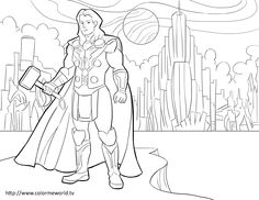 Thor Pdf Printable Coloring Page Avengers Coloring Pages Avengers Coloring Superhero Coloring