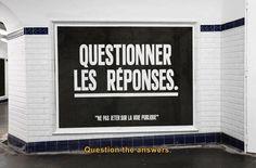 De la philosophie de métro http://iletaitunepub.fr/2015/02/02/un-street-artist-detourne-les-publicites-du-metro/ #street #streetart #philosophie #inspiration
