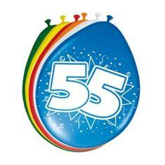 Ballonnen 55 jaar, 8st.