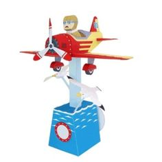 Traveling Pilot,Toys,Paper Craft,sea gull,airplane,play,mechanical toy,Moving toy