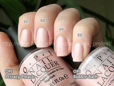 OPI Privacy please / OPI Bubble bath