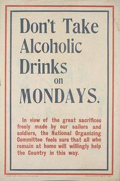 File:Don't Take Alcoholic Drinks on Mondays poster.jpg