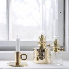 Swedish Brass Oil Lamps- Kaufmann Mercantile