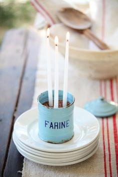 Vintage French Farine Blue Enamelware www.mysoulfulhome.com