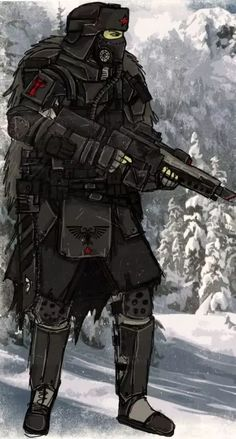 Death Winter Legion by Taurus-ChaosLord on DeviantArt Warhammer Imperial Guard, 40k Imperial Guard, Warhammer 40k Art, Warhammer Fantasy, Armor Concept, Concept Art, Space Opera, Apocalypse Art, Futuristic Armour