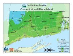 The new USDA Plant Hardiness Zone Map for Connecticut and Rhode Island