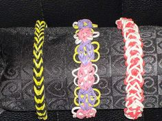 Rubberband Rainbow Loom Bracelets by MommyandMeWorkshop on Etsy, $4.00