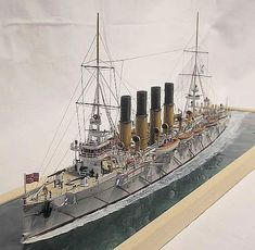 Varyag Scale Model Ships, Scale Models, Model Warships, Ship Craft, Boat Kits, Boat Building, Model Building, Naval History, Military Diorama