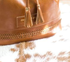Vegetable tanned bucket leather bag by Annamaria Pap