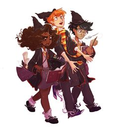 ☆ plants and space ☆ <- I have fallen in love with POC Harry and Hermione.