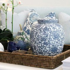 Royston Blue & White Ginger Jar
