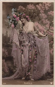 Lovely Belle Epoque Dancer Nina Barkis with Pink by decorables, $18.00