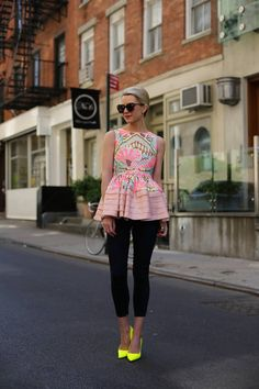 I;m not a print girl but I love this it's girly, feminine and edgy and CLASSIC all at the same time! Hello Again  #Graphic #Tanks #Sunglasses #Jeans