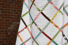 flea market fancy lattice quilt by filminthefridge, via Flickr - a scrap buster