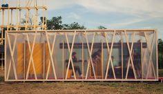 Architecture, green architecture, prefab architecture, Hungary, temporary…