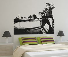 Vinyl Wall Decal Sticker Golf Course #5105