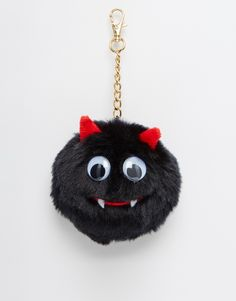 Hang this little guy on your keys or your purse for a scary cute accessory. Don't worry, he doesn't bite.