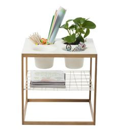 Keep kid's toys and crafts oragnized with the IKEA PS 2012 side table with 4 bowls. The bowls have removable, dishwasher-safe inserts that are easy to clean!