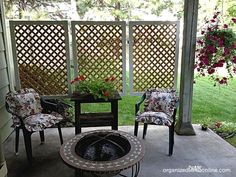 s 13 ways to get backyard privacy without a fence, fences, outdoor living, Hang lattice panels around your porch