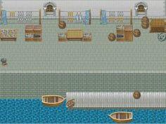 Harbor Market Battleback for RPG Maker XP by TheStoryteller01