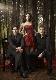 The Vampire Diaries Pictured: Ian Somerhalder as Damon, Nina Dobrev as Elena, Paul Wesley as Stefan Photo Credit: Art Streiber / The CW © 2010 The CW Network, LLC. All Rights Reserved. Vampire Diaries Stefan, Vampire Diaries Season 2, The Vampires Diaries, Serie The Vampire Diaries, Vampire Diaries Poster, Vampire Diaries Wallpaper, Vampire Diaries The Originals, Stefan Vampire, Stefan Tvd
