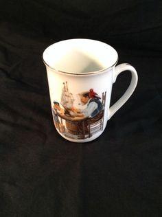 1982 NORMAN ROCKWELL MUSEUM Porcelain Ceramic FOR A GOOD BOY Coffee MUG Tea CUP