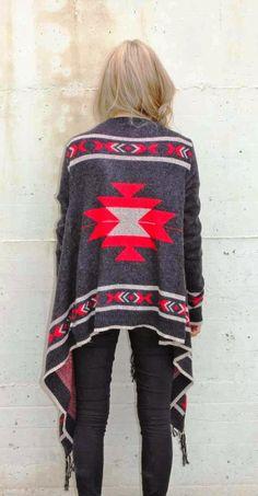 Adorable tribal cardigan fashion for fall